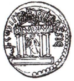 AugustusCoin3734BCTemplumDiviIuli