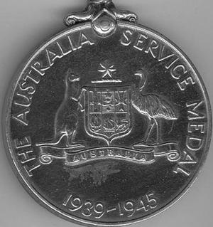 Australia Service Medal 1939–1945 - Image: Australia Service Medal 1939 45 rev
