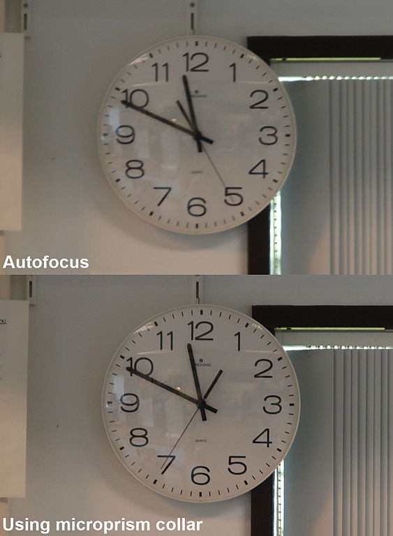 file autofocus vs manual focusing using the microprism collar of a rh commons wikimedia org auto focus vs manual focus lenses Best Manual Focus Camera