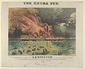 Awful Conflagration of the Steam Boat Lexington in Long Island Sound on Monday Eve, January 13th, 1840, by which melancholy occurrence, over 100 Persons Perished MET DP853624.jpg