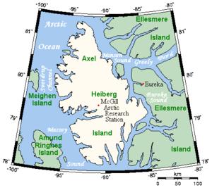 Axel Heiberg Island - Closeup of Axel Heiberg Island