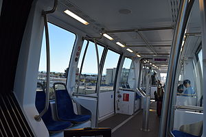 Coliseum–Oakland International Airport line - Interior of the tram