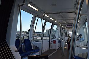 Coliseum–Oakland International Airport line - Interior of the tram