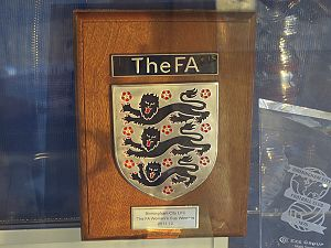 Birmingham City L.F.C. - FA Cup Winners Plaque