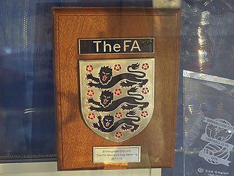 Birmingham City L.F.C. - FA Cup Winners Plaque