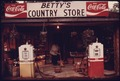 BETTY FAIN OPENS FOR BUSINESS ON MAIN STREET AT BETTY's GROCERY IN HELEN, GEORGIA, NEAR ROBERTSTOWN - NARA - 557679.tif