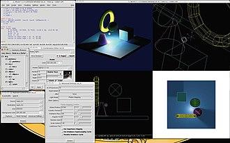 BRL-CAD - Image: BRL CAD screenshot