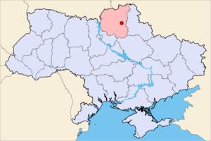 Bakhmach - Image: Bakhmach Ukraine Map