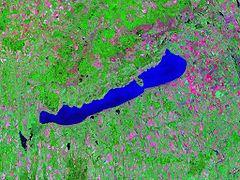 Lake Balaton - Landsat satellite photo