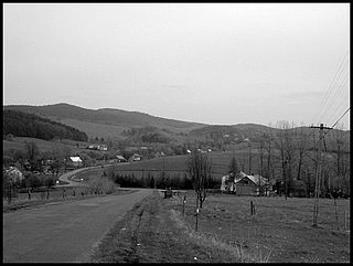 Bandrów Narodowy Village in Subcarpathian Voivodeship, Poland