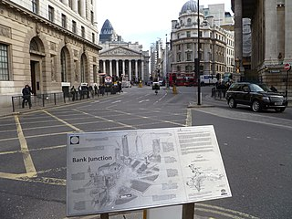 Bank junction major road junction in the City of London