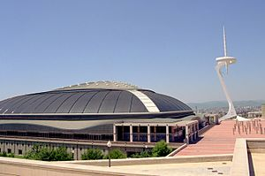 Sport in Barcelona - Palau Sant Jordi (St. George's sporting arena) and Montjuïc Communications Tower