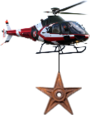 Barnstar hanging from helicopter.png