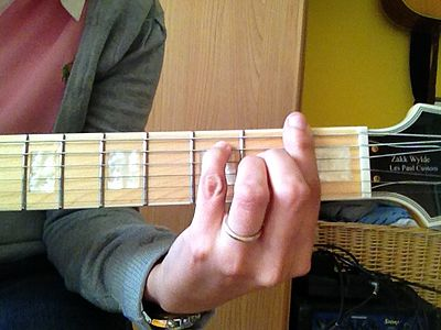 Barrè con base di MI7+ chitarra bar chord on Emaj7 basis guitar.JPG