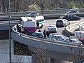 Barrandovský most, porouchaný autobus Vězeňské služby.jpg