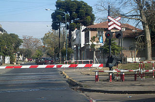 Level crossing signals Devices used to warn pedestrians and drivers of incoming trains at level crossings
