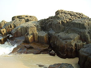 St. Mary's Islands - A view of basaltic rock formation in St. Mary's Island