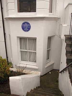 Sri Aurobindo -  Basement of 49 St Stephen's Avenue, London W12 with Sri Aurobindo Blue Plaque