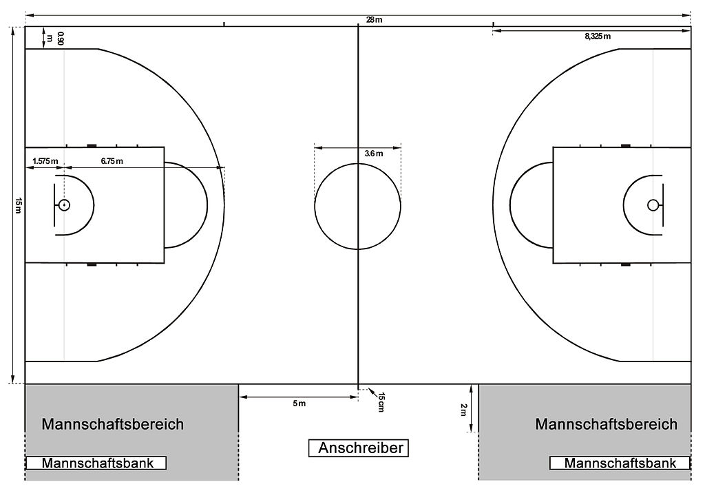 Basketball court dimensions 2010