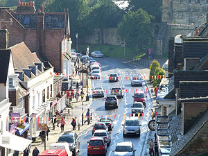 Battle, East Sussex - A view of Battle High Street looking south east towards Battle Abbey.