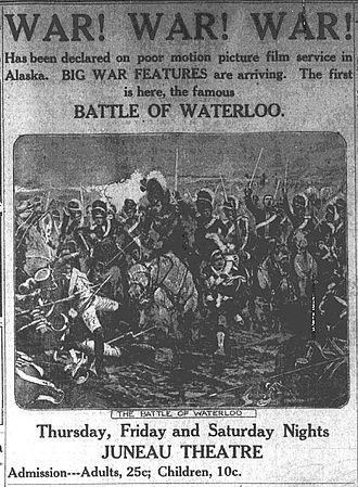 The Battle of Waterloo (film) - Image: Battle of Waterloo 1914 ad