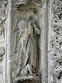Bazas (33) Cathédrale Saint-Jean-Baptiste Façade ouest Portail central 1ère voussure 03.JPG