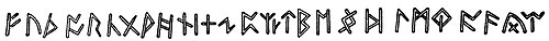 Drawing of an inscription of the Anglo-Saxon runic alphabet