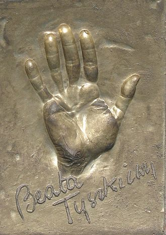 Beata Tyszkiewicz -  Handprint and signature of B. Tyszkiewicz in Misdroy