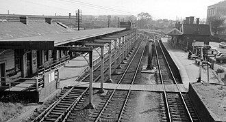 Bedford St Johns railway station - Original station in June 1962