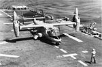 Bell XV-15 during trials aboard USS Tripoli (LPH-10) in 1983.jpg
