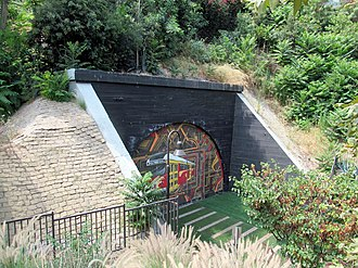 Belmont Tunnel/Toluca Substation and Yard - The remaining tunnel portal in 2017