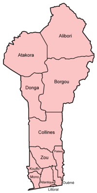 Departments of Benin.