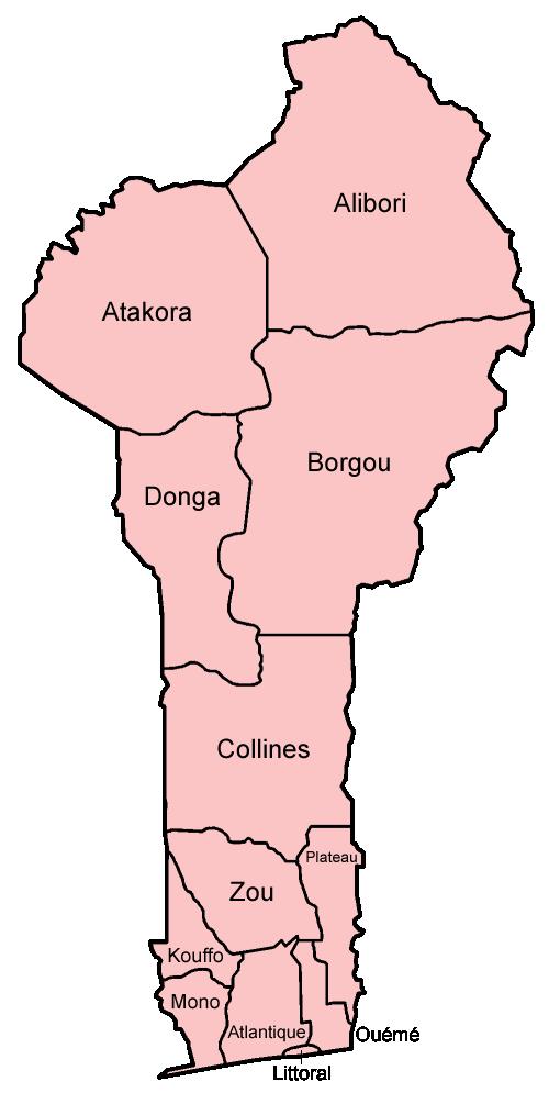 Benin departments named
