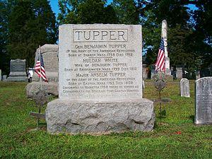 Benjamin Tupper - Benjamin Tupper marker at Mound Cemetery, Marietta, Ohio