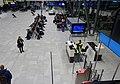 Bergen Airport Flesland, Norway 2019-11-21 Passengers waiting Gate B16 B17 Widerøe Counter Screens Seating (utgang, avgangshall) etcDSC01016.jpg