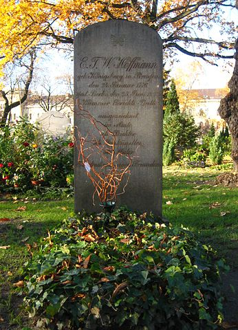 Могила Гофмана на Иерусалимском кладбище Берлина в районе Кройцберг