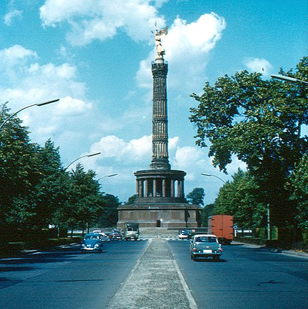 Berlin - Siegessaule. Spacious and organized city planning in Germany was official government policy dating back to Nazi rule. Berlin - Siegessaule.jpg