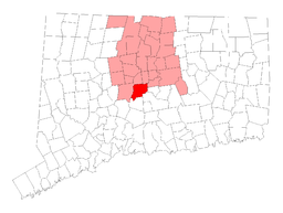 Canaans läge i Connecticut.
