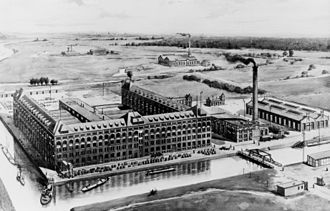 Siemens family - Siemens-Cable Factory in Berlin-Siemensstadt around 1900