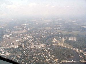 Berrien Springs, Michigan - Aerial view of Berrien Springs.