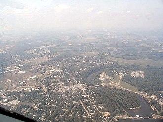 Berrien Springs, Michigan - Aerial view of Berrien Springs.