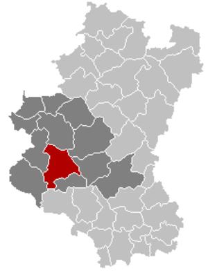 Bertrix - Image: Bertrix Luxembourg Belgium Map
