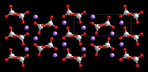 Kristallstruktur von β-Natriummetavanadat
