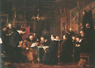 Gábor Bethlen among his Scholars