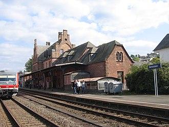Gerolstein - Gerolstein, Bahnhofstraße 4: Gothic Revival railway station
