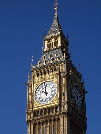 Westminster Quarters - The Elizabeth Tower of the Palace of Westminster, the namesake of the chime