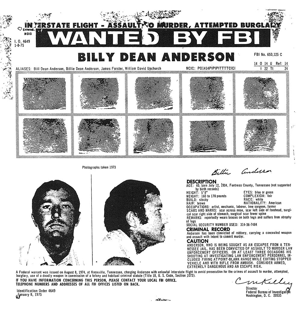 FileBilly Dean Anderson wanted posterjpg Wikimedia Commons – Wanted Criminal Poster
