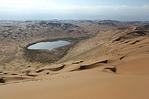 Badain Jaran Desert - View from Bilutu Peak