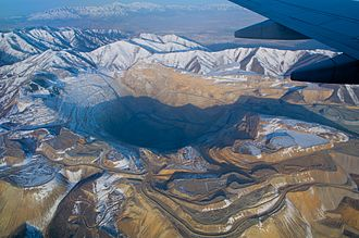 Mining has been a large industry in Utah since it was first settled. The Bingham Canyon Mine in Salt Lake County is one of the largest open pit mines in the world. BinghamCanyon.jpg