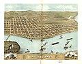 Bird's eye view of the city of Rock Island, Rock Island County, Illinois 1869. LOC 73693371.jpg